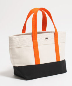 CaBas N°1 Tote small (White/Orange)