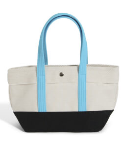 CaBas N°1 Tote small (White/ Turquoise)